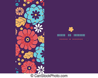 Colorful bouquet flowers horizontal seamless pattern background