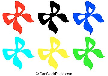 colorful bow on a white background