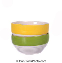 Colorful bowl isolated