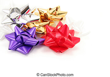 bows on white background