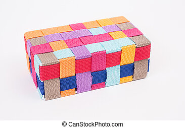 Colorful box on white background