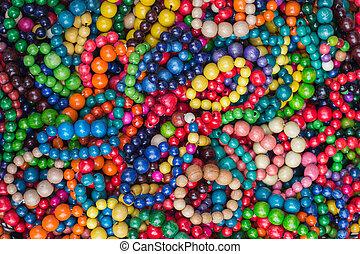 Colorful bracelets multi color background