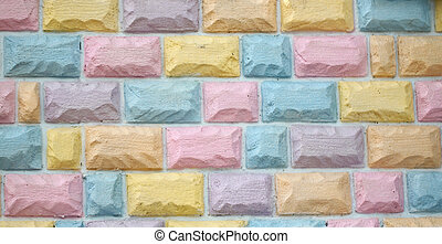 Colorful brick wall. - Colorful brick wall for the...