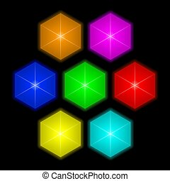 Colorful bright gems