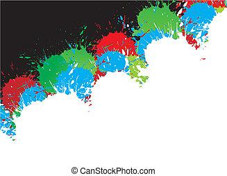 ink splat design