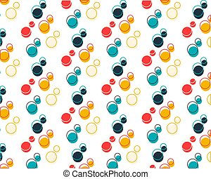 Colorful bright set of circles on a white background