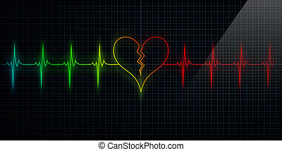 Colorful Broken Heart Monitor