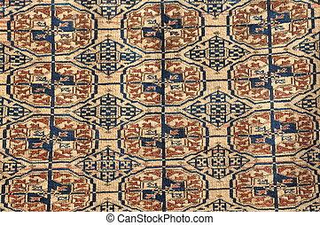 Colorful brown carpet