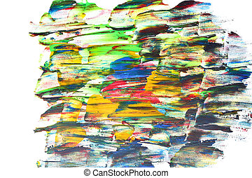 Colorful brush strokes of paint