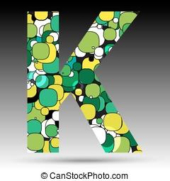 Colorful bubble alphabet