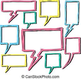 Colorful bubble speech doodle