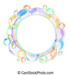 Colorful bubble vector background