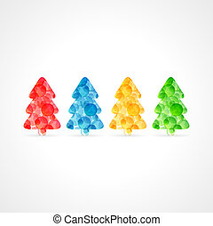 colorful bubbles christmas tree poster