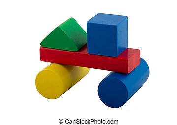 Colorful Building Blocks - Car