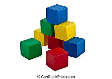 Colorful Building Blocks - Pyramid