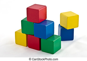 Colorful Building Blocks - Triangle