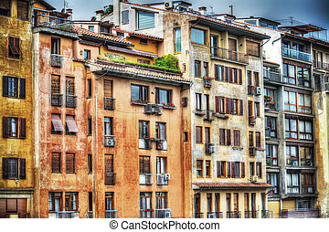 colorful building facades in Florence