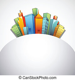 Colorful Building - illustration of colorful building and...