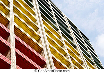 Colorful building under blue sky