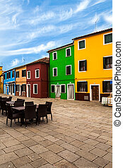 Colorful Buildings In Murano