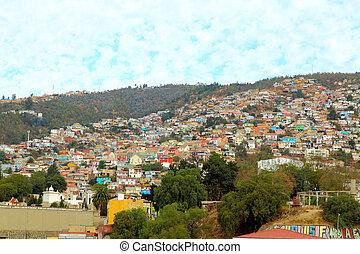 Colorful buildings. Valparaiso, Chile - Colorful buildings ...