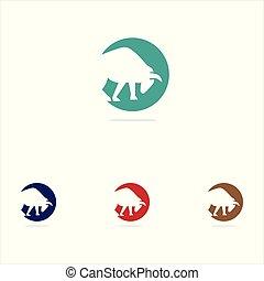colorful bull vector logo design