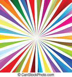 Colorful burst background vector for poster