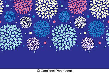 Colorful bursts horizontal seamless pattern background...