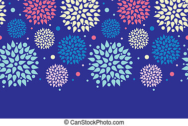 Colorful bursts horizontal seamless pattern background border