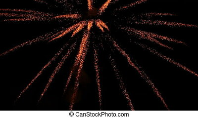 Colorful bursts of fireworks in the night sky