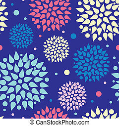 Colorful bursts seamless pattern background