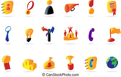 Colorful business and success icons