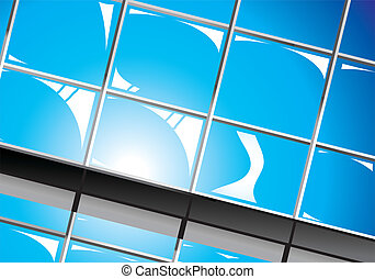 Colorful Business Background with abstract Windows background