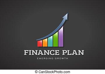 Colorful Business Finance Bar Vector illustration