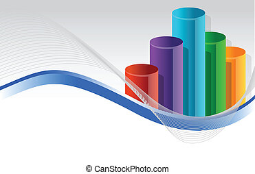 colorful business graph illustration design