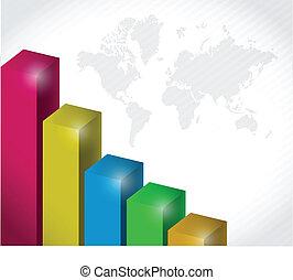 colorful business layout background illustration