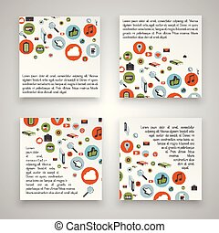 Colorful business templates, vector