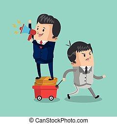 Colorful businessman cartoon design