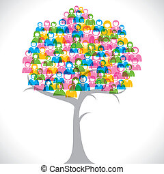 colorful businessmen tree