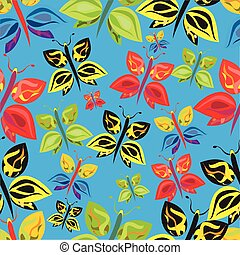 colorful butterfies seamless patter