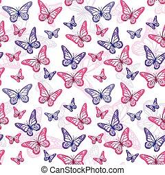 Colorful Butterflies Pattern