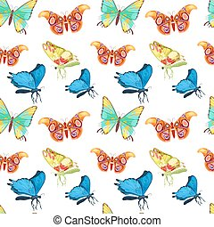 Colorful Butterflies Set. Vector illustration