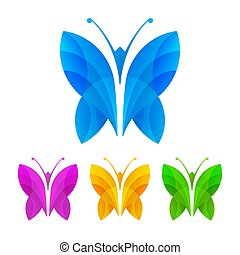 Colorful butterflies, vector illustration