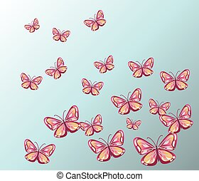 Colorful Butterfly Background.