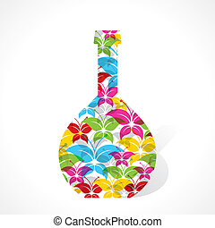 Colorful butterfly make flower pot