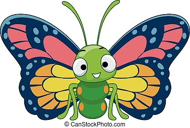 Colorful Butterfly Mascot - Mascot Illustration Featuring a ...