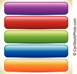 Colorful Button / Banner Backgrounds with Glossy Effect and Empty Space Colorful Button / Banner Backgrounds with Glossy Effect and Empty Space