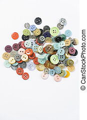 Colorful buttons frame, isolated on white