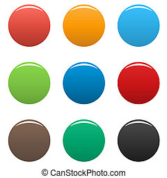 Colorful buttons icon set simple