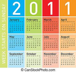 Colorful Calendar 2011 - Colorful Calendar for Year 2011,...